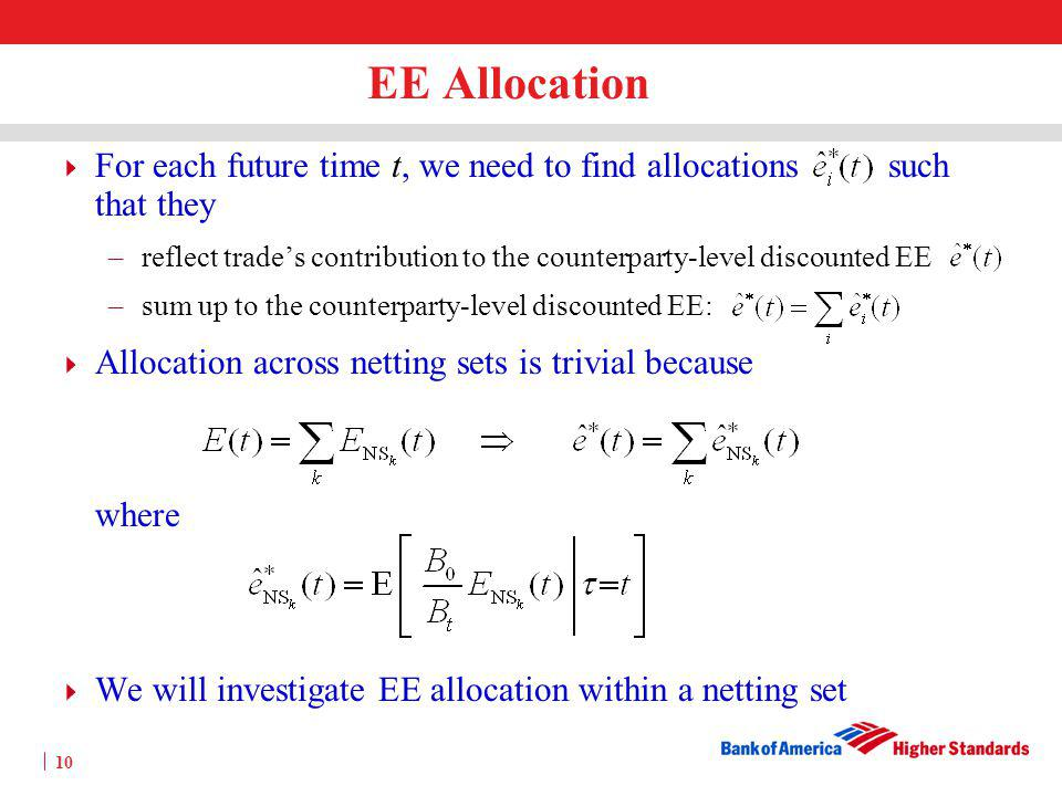 EE Allocation For each future time t, we need to find allocations such that they.