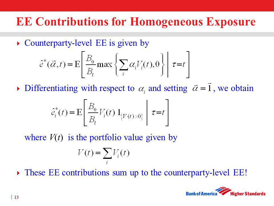EE Contributions for Homogeneous Exposure