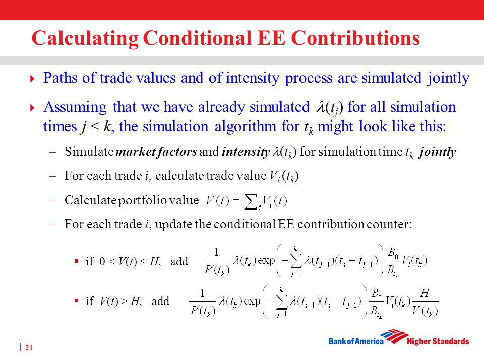 Calculating Conditional EE Contributions