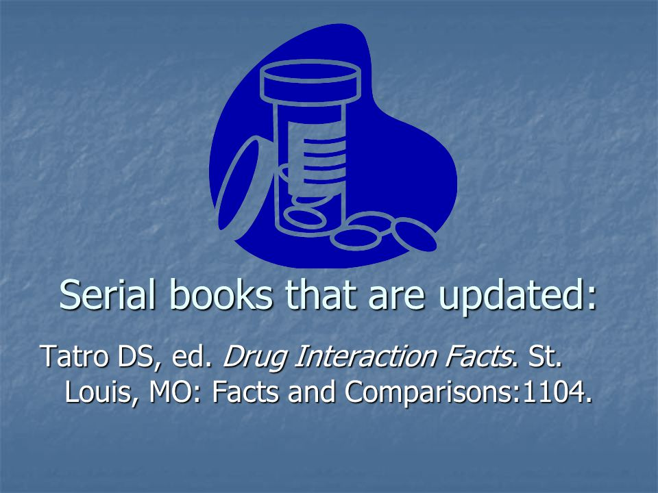 Serial books that are updated: