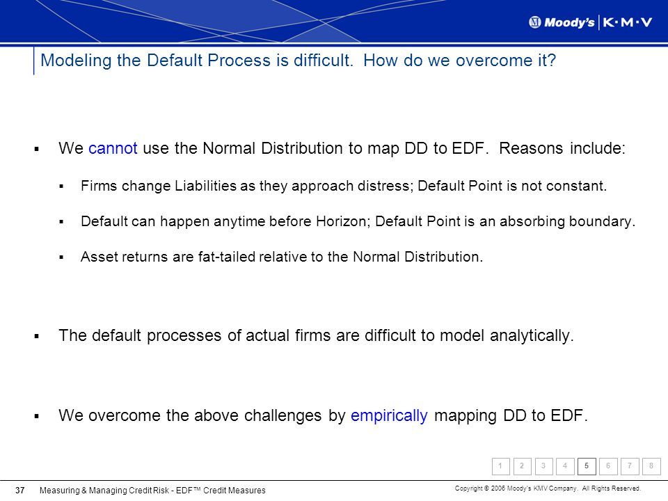 Modeling the Default Process is difficult. How do we overcome it