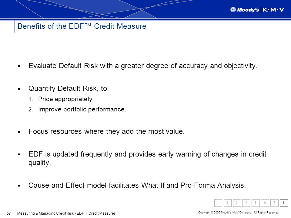 Benefits of the EDF™ Credit Measure