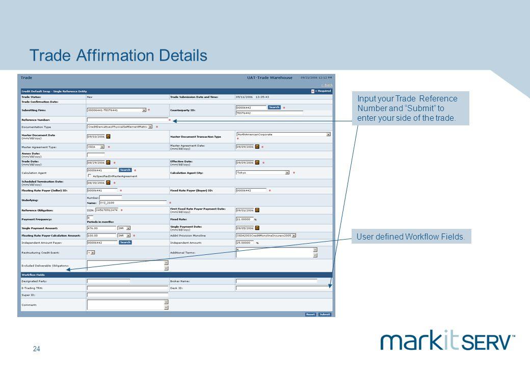 Trade Affirmation Details