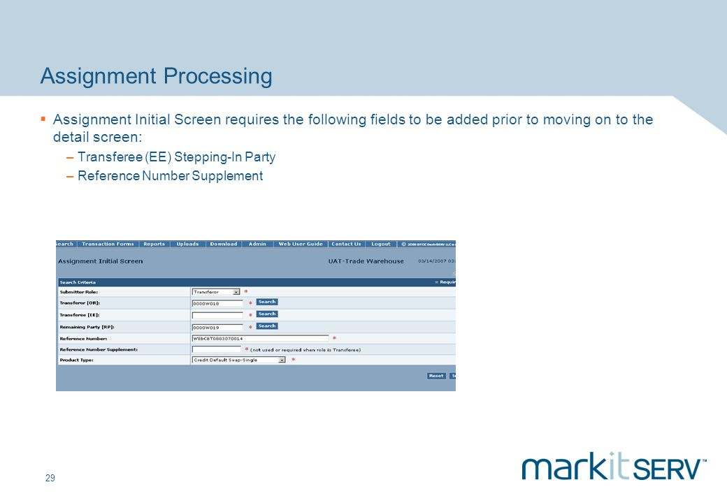Assignment Processing