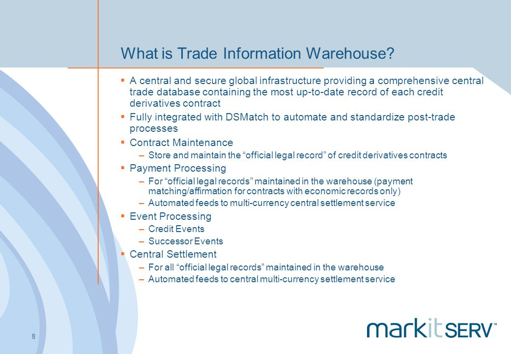 What is Trade Information Warehouse