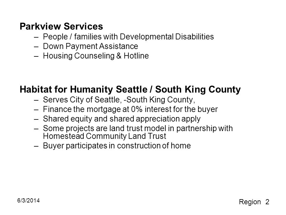 Habitat for Humanity Seattle / South King County
