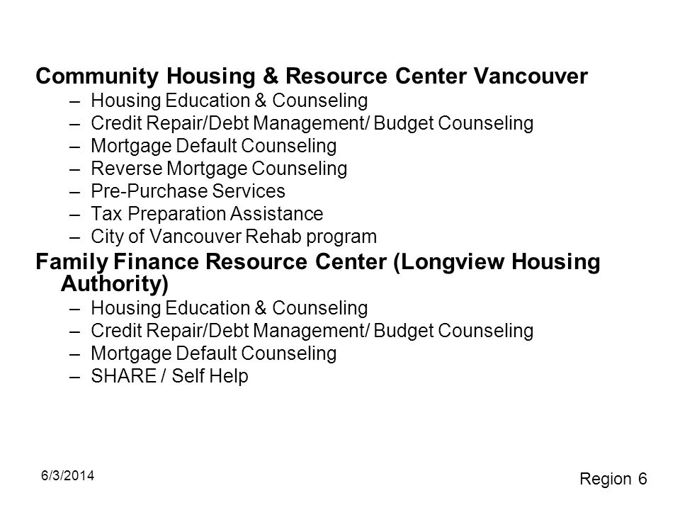 Community Housing & Resource Center Vancouver