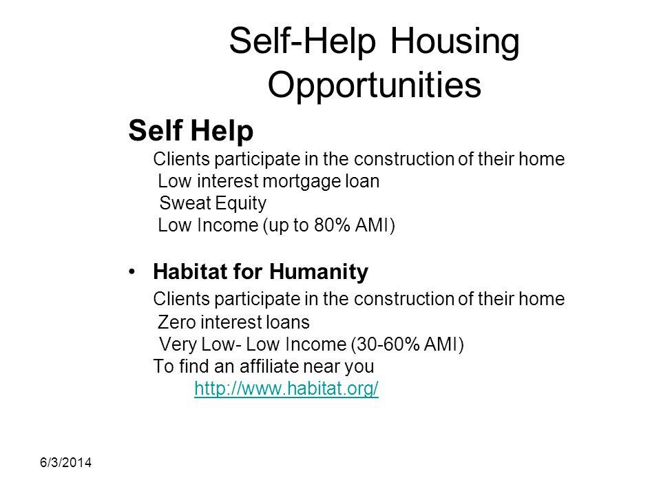Self-Help Housing Opportunities