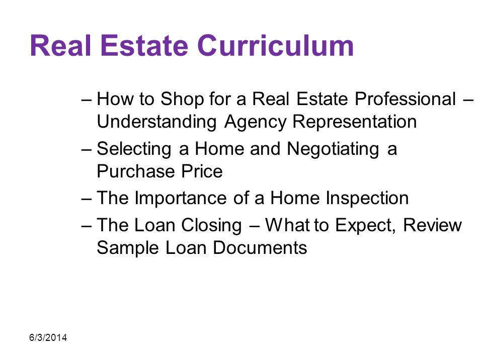 Real Estate Curriculum