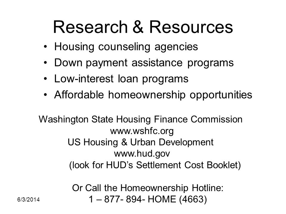 Research & Resources Housing counseling agencies