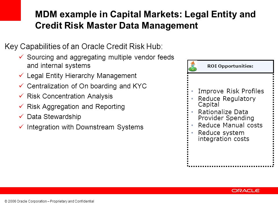 MDM example in Capital Markets: Legal Entity and Credit Risk Master Data Management