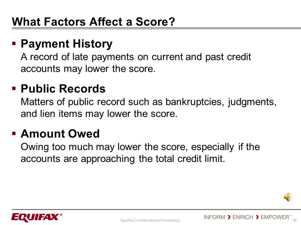 What Factors Affect a Score