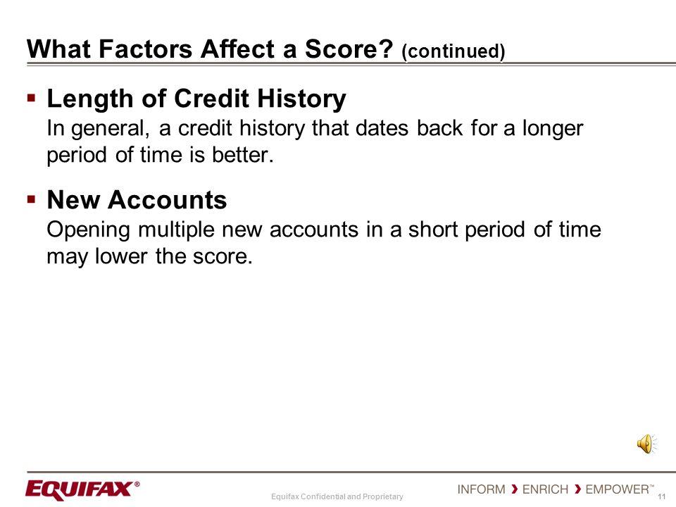 What Factors Affect a Score (continued)