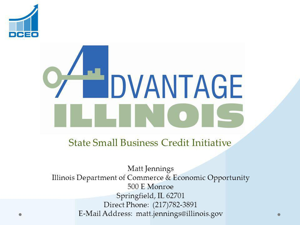 State Small Business Credit Initiative