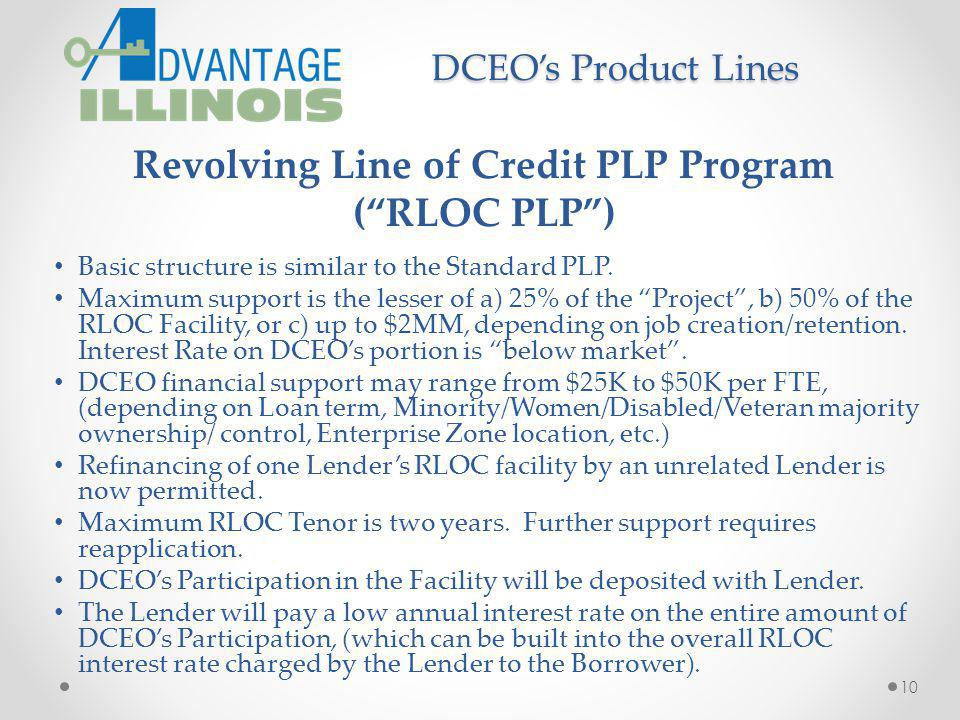 Revolving Line of Credit PLP Program