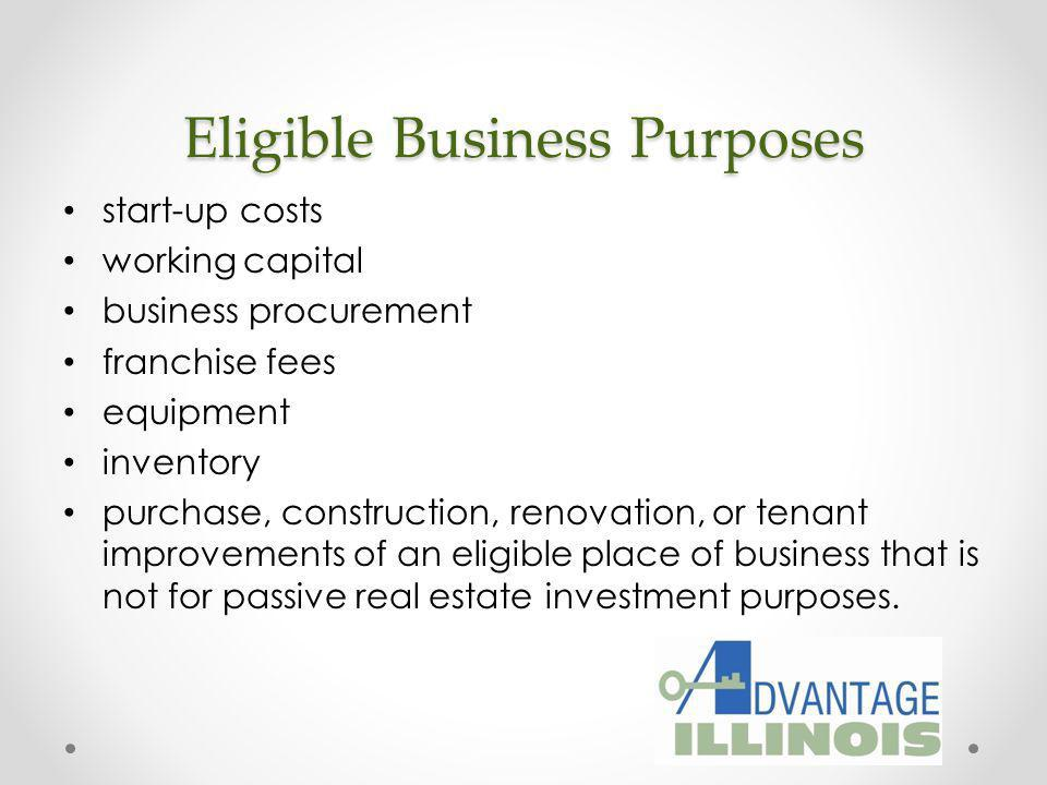 Eligible Business Purposes
