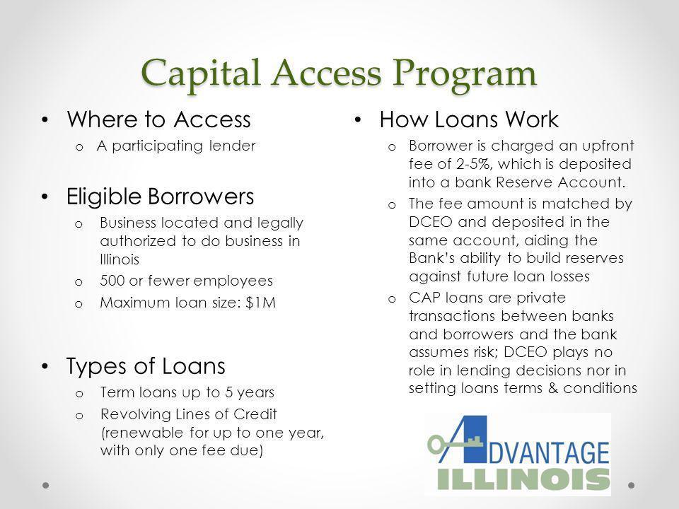 Capital Access Program