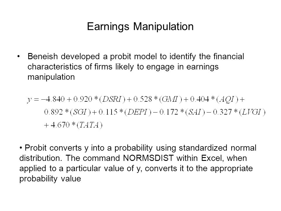 Earnings Manipulation
