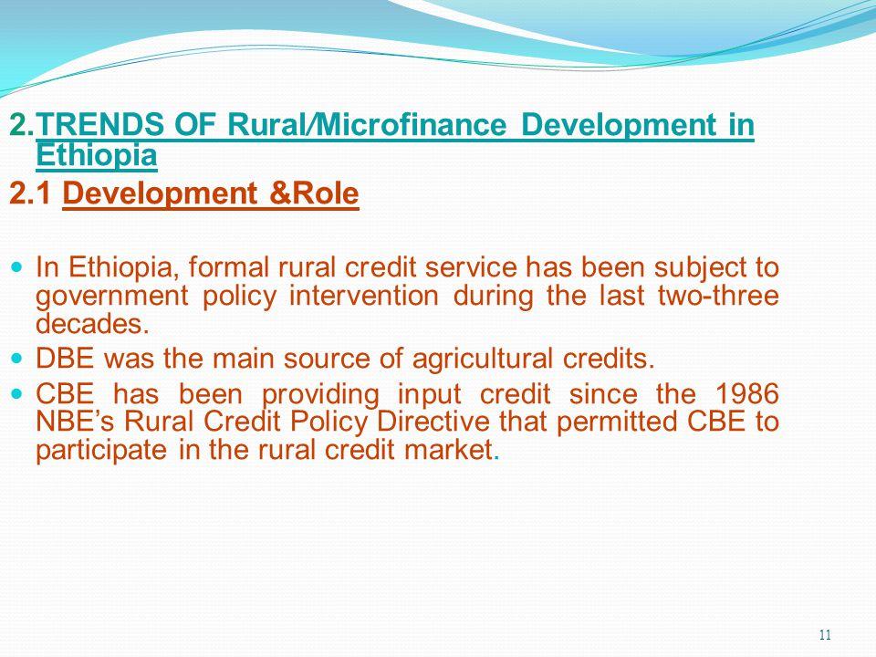 2.TRENDS OF Rural/Microfinance Development in Ethiopia