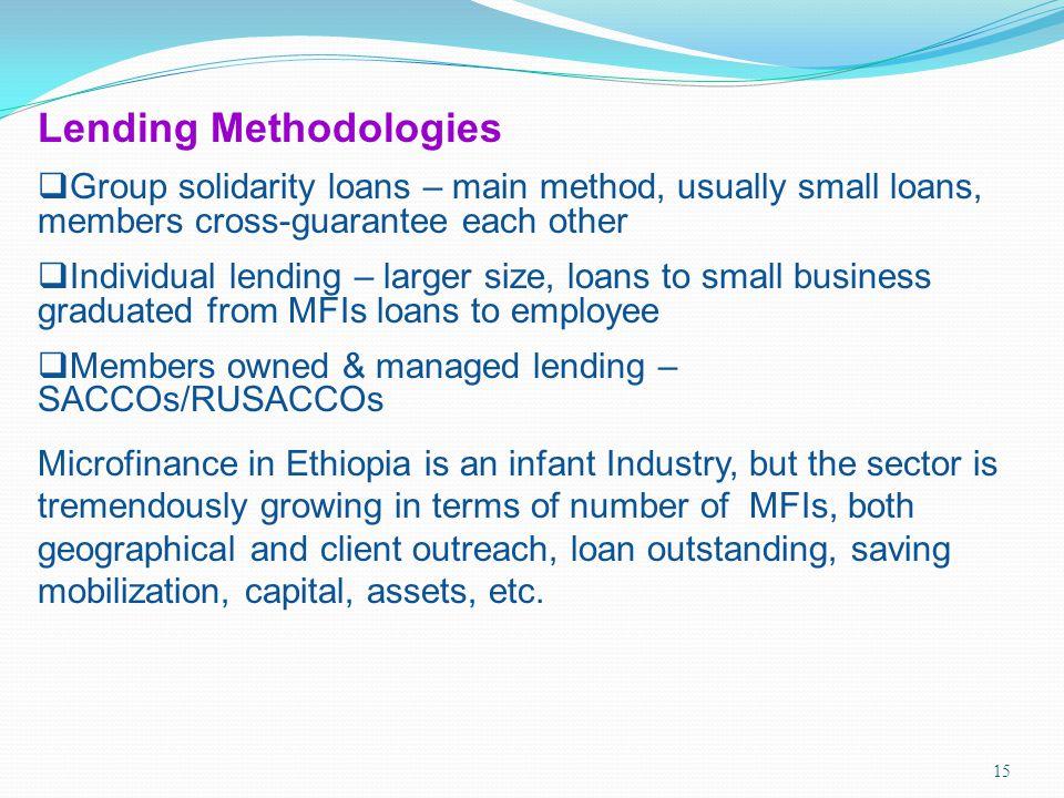 Lending Methodologies