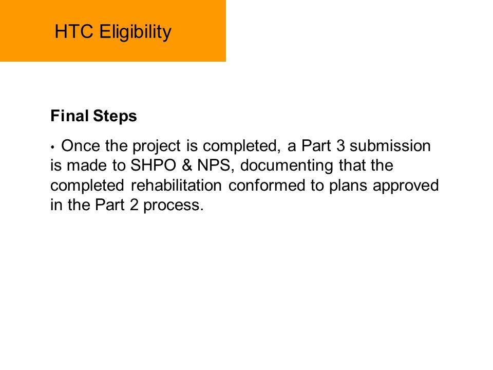 HTC Eligibility Final Steps