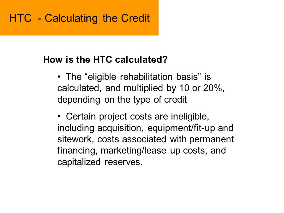 HTC - Calculating the Credit