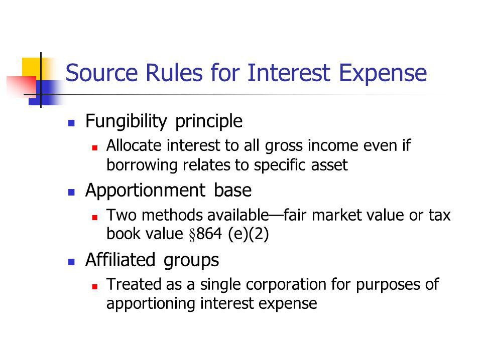 Source Rules for Interest Expense