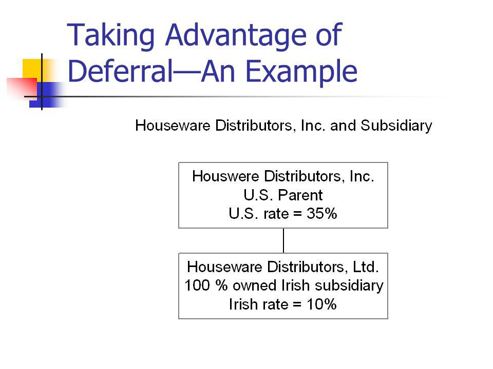 Taking Advantage of Deferral—An Example