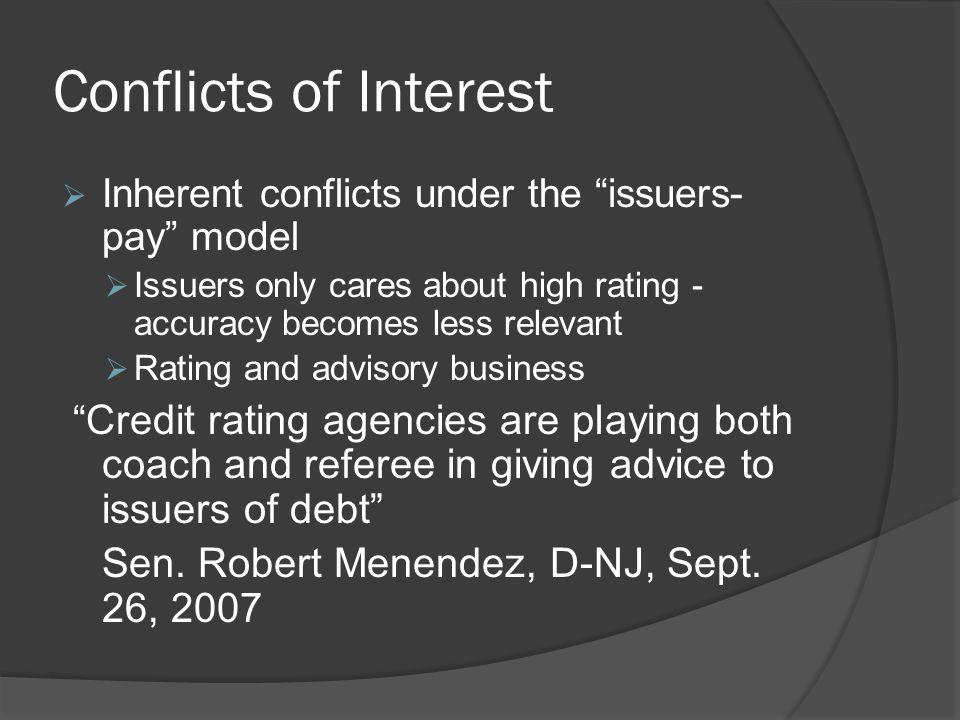 Conflicts of Interest Sen. Robert Menendez, D-NJ, Sept. 26, 2007