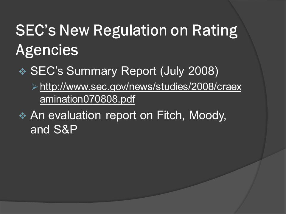 SEC's New Regulation on Rating Agencies
