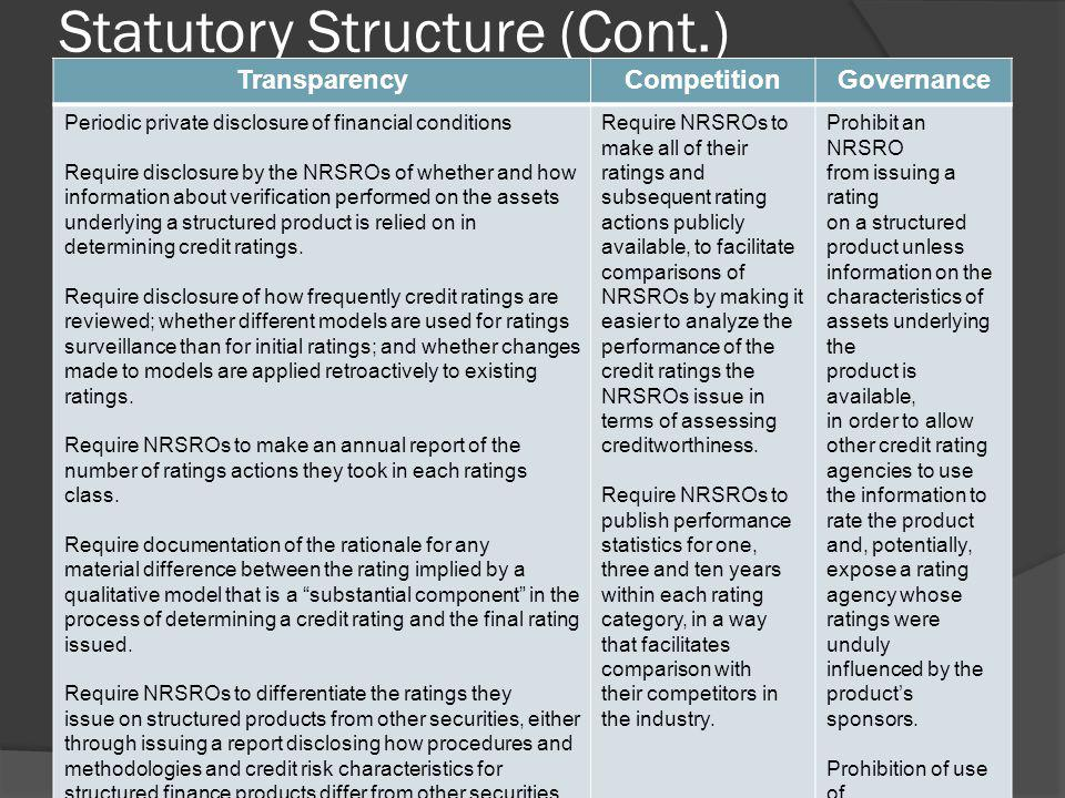 Statutory Structure (Cont.)