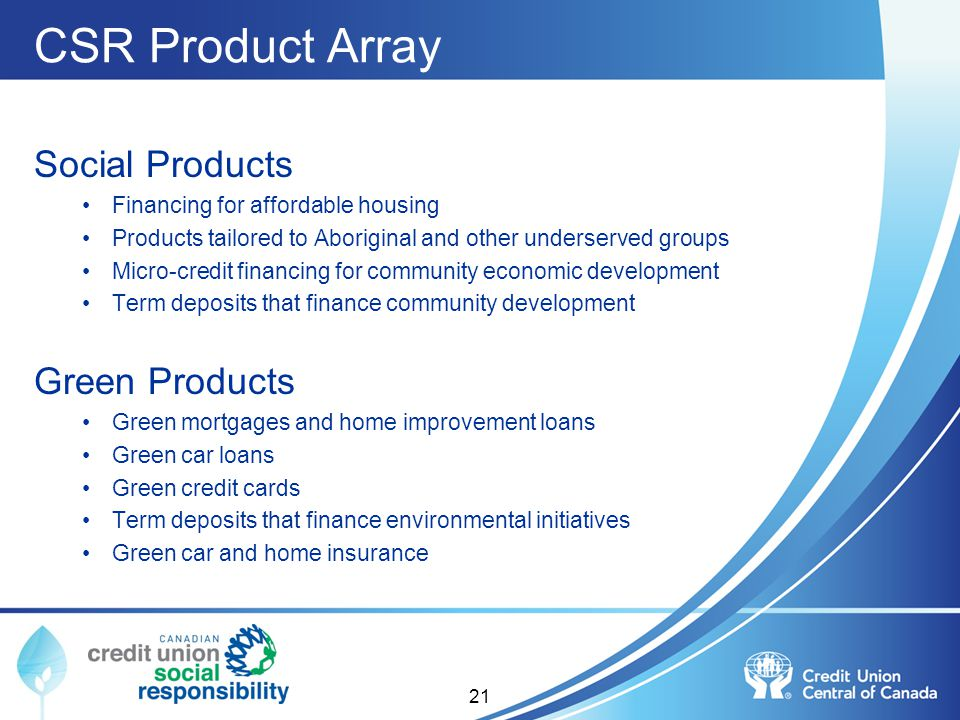 CSR Product Array Social Products Green Products