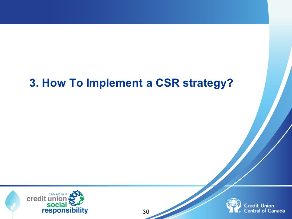 3. How To Implement a CSR strategy
