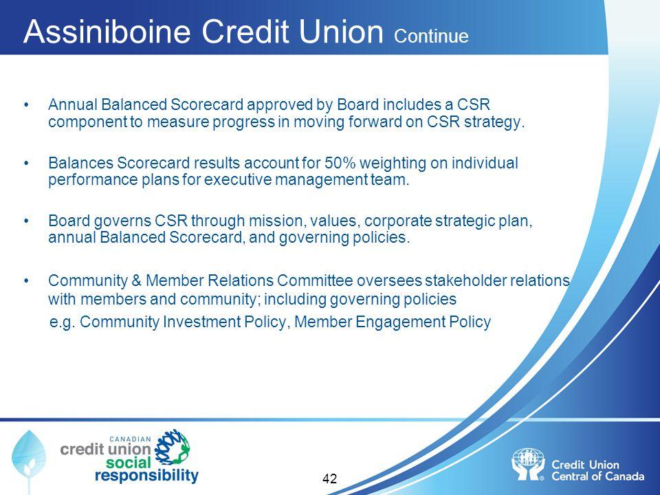 Assiniboine Credit Union Continue