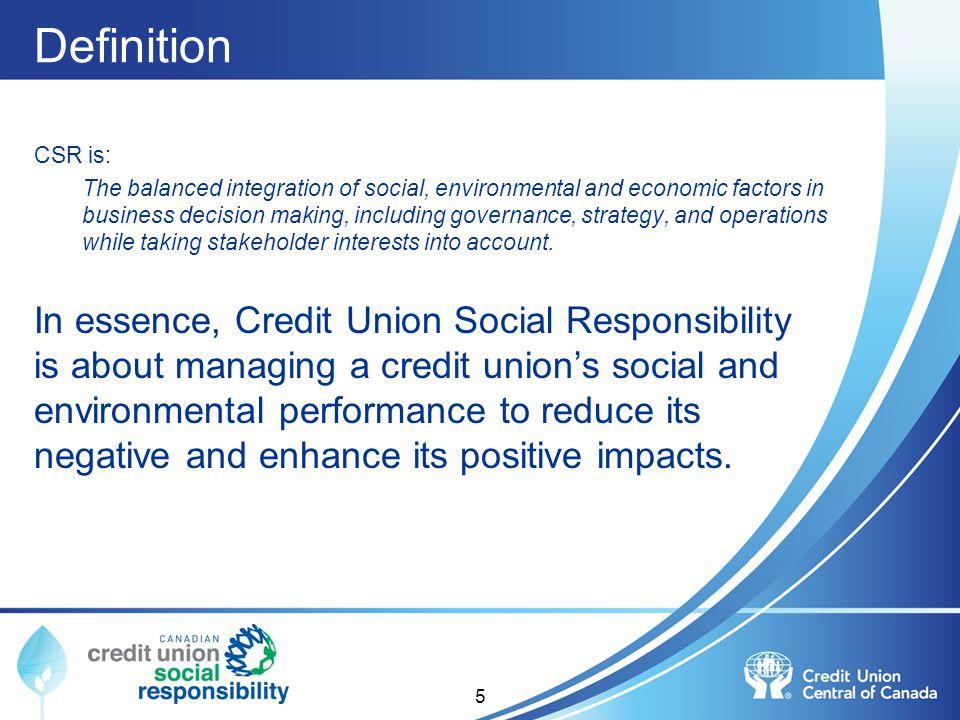 Definition CSR is: