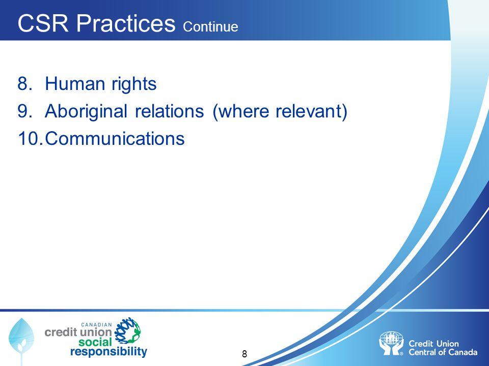 CSR Practices Continue