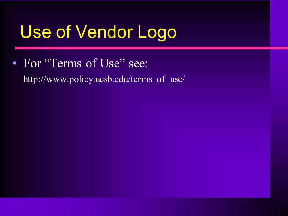 Use of Vendor Logo For Terms of Use see: