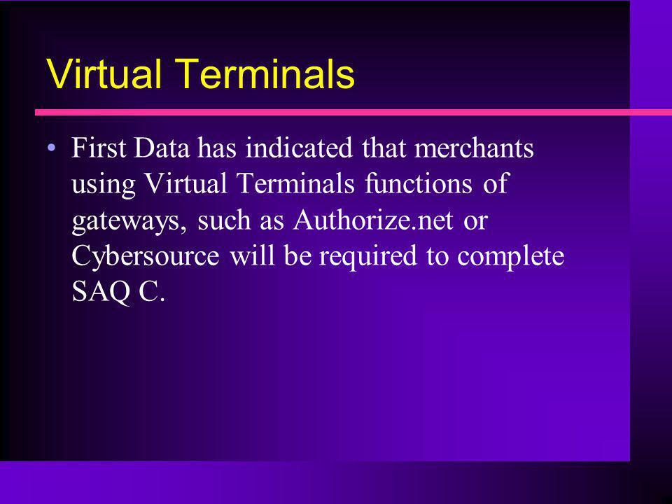 Virtual Terminals