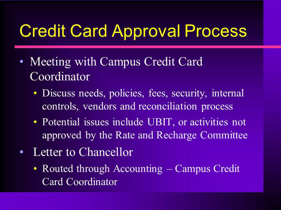 Credit Card Approval Process