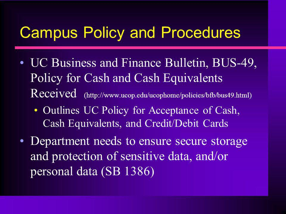 Campus Policy and Procedures