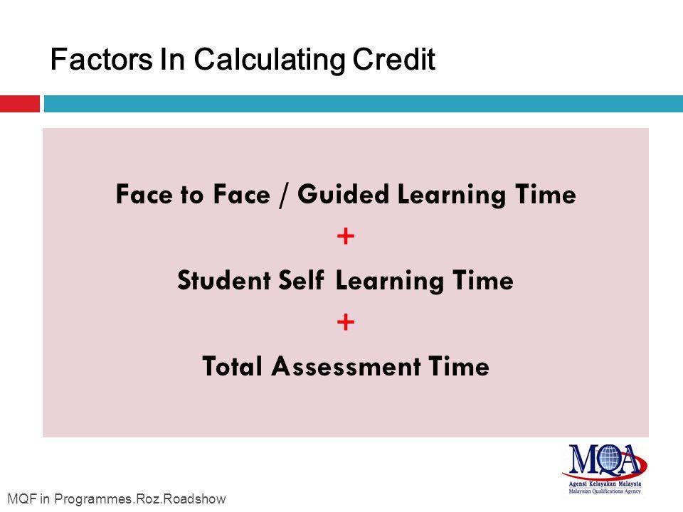 Factors In Calculating Credit