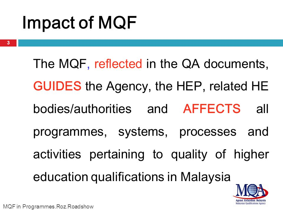 Impact of MQF