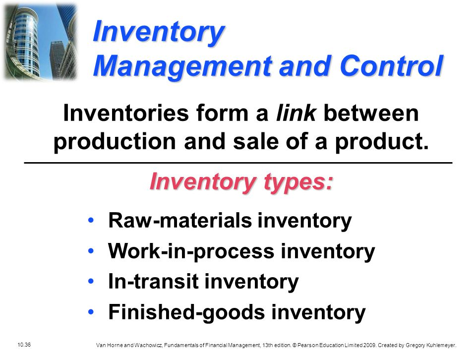 Inventories form a link between production and sale of a product.