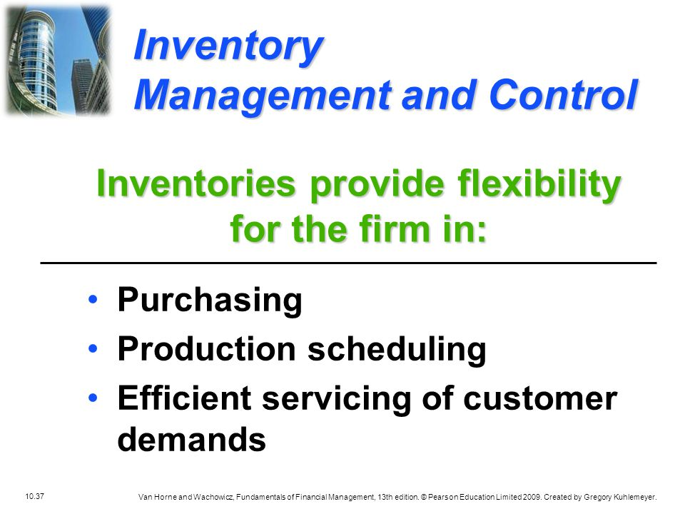 Inventories provide flexibility for the firm in: