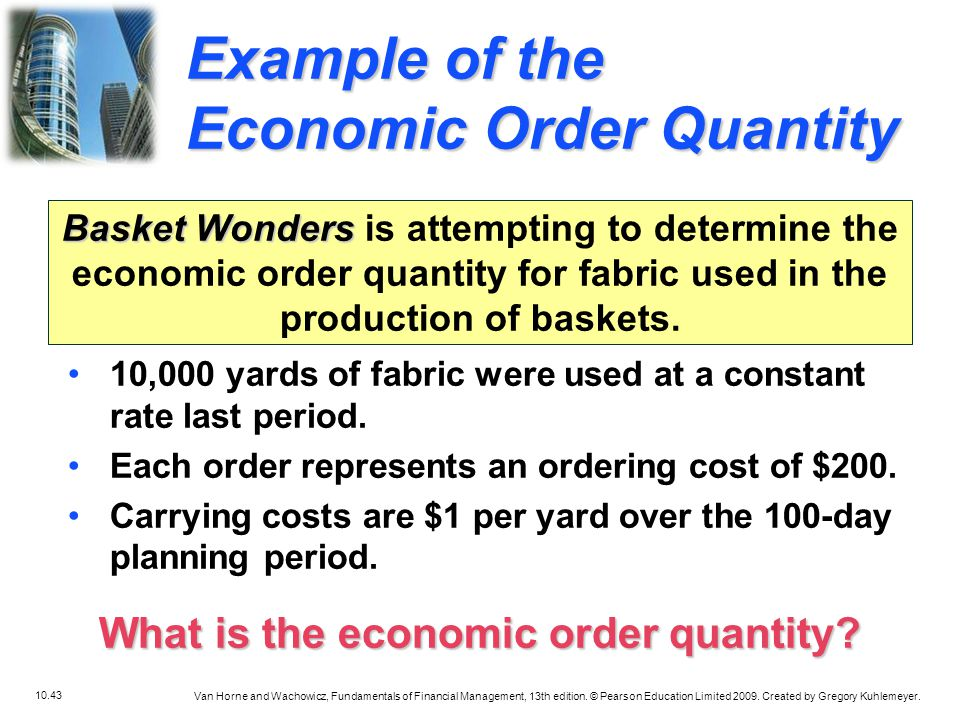 What is the economic order quantity