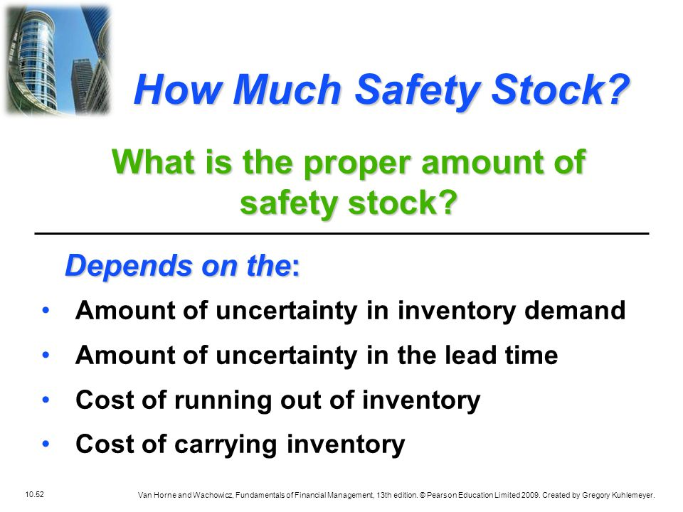 What is the proper amount of safety stock