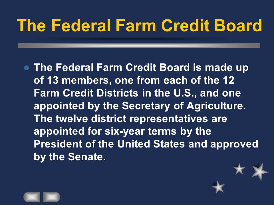 The Federal Farm Credit Board