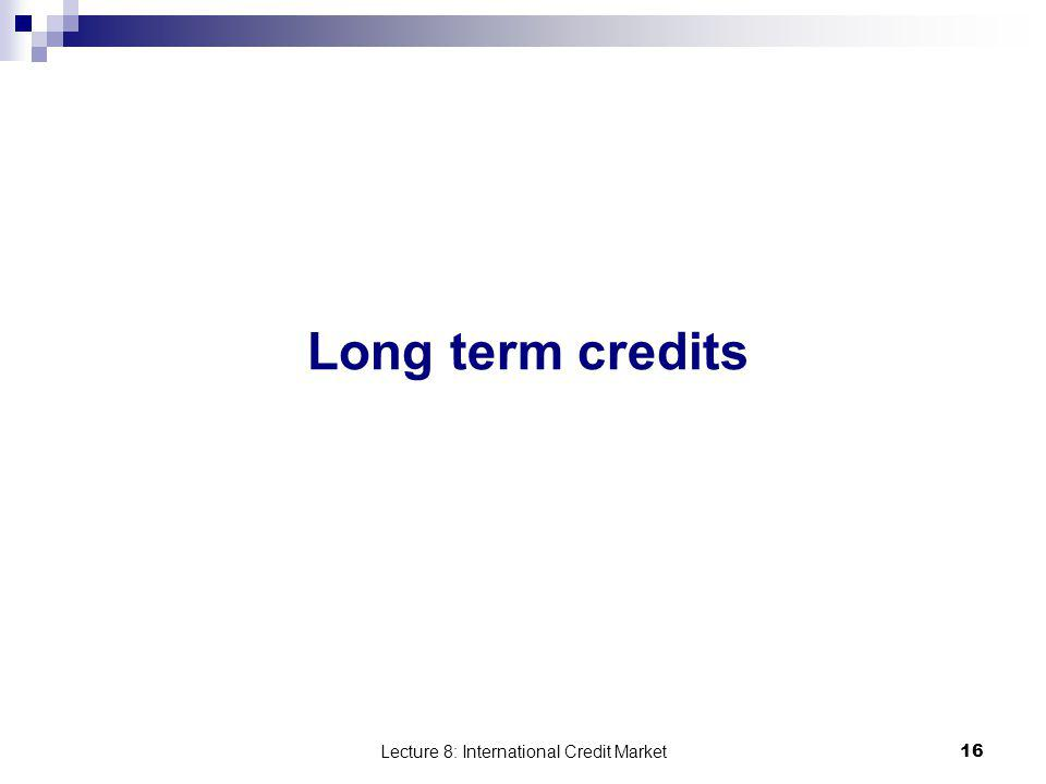 Lecture 8: International Credit Market