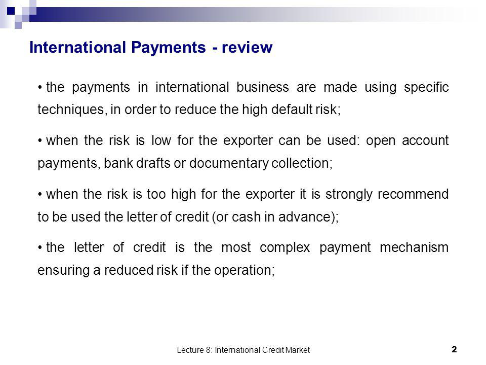 International Payments - review