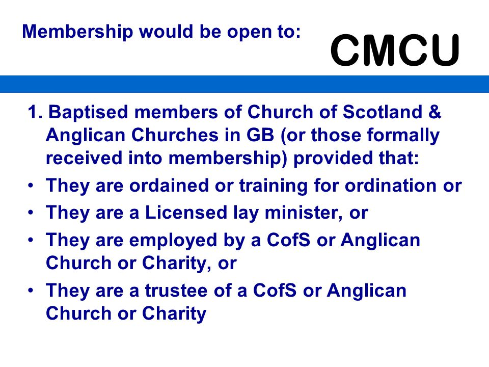 Membership would be open to: